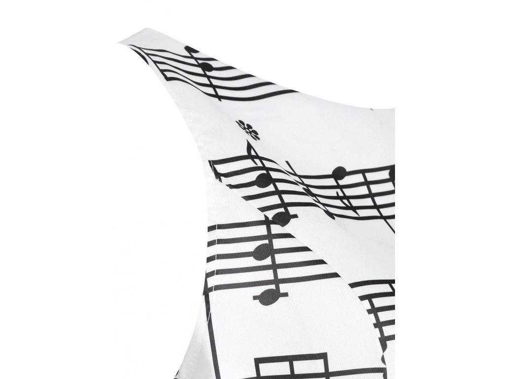 Saténové bílé šaty PARTITURA - HUDEBNIKUM.CZ 2fb5536fa12