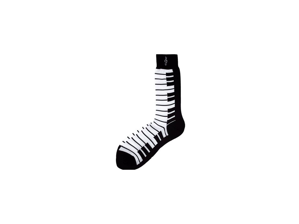 Ponožky s klaviaturou dámské - černé