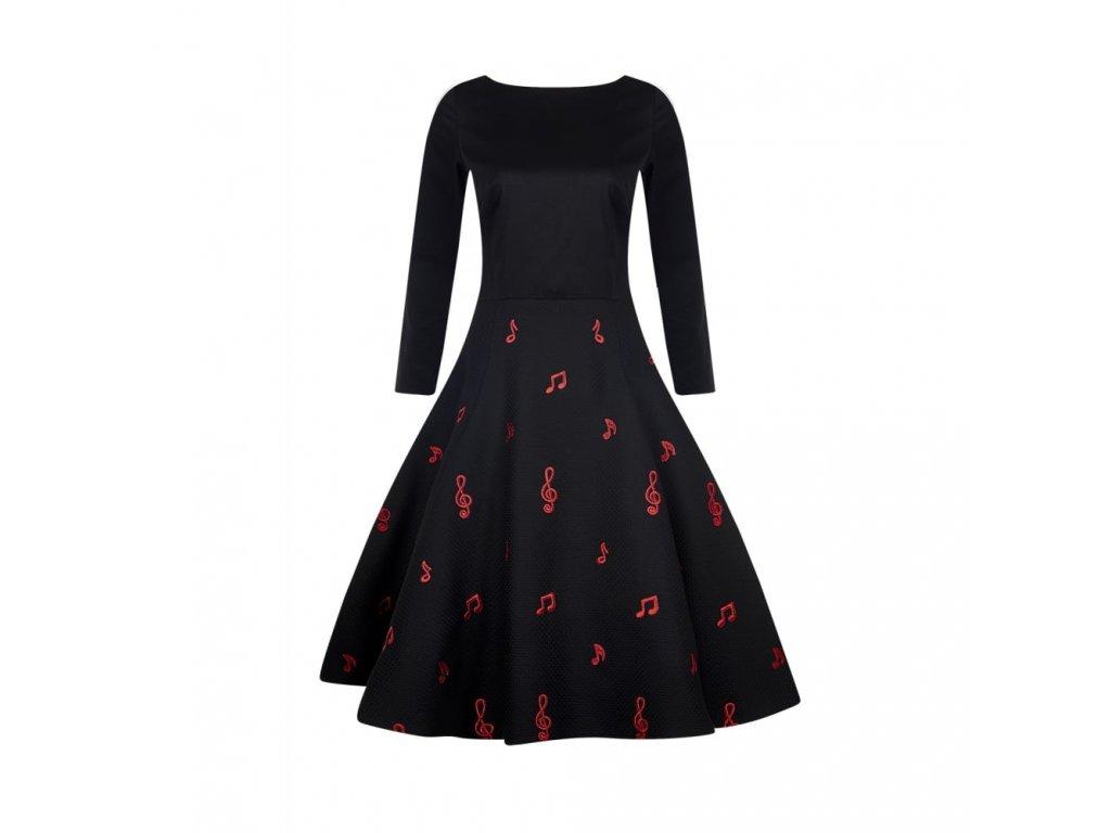 černé šaty noty