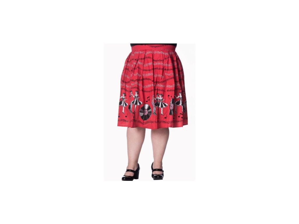 sukně rock and roll plus size zepředu