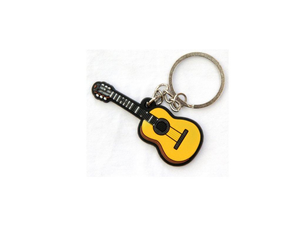 přívěsek na klíče kytara klasická