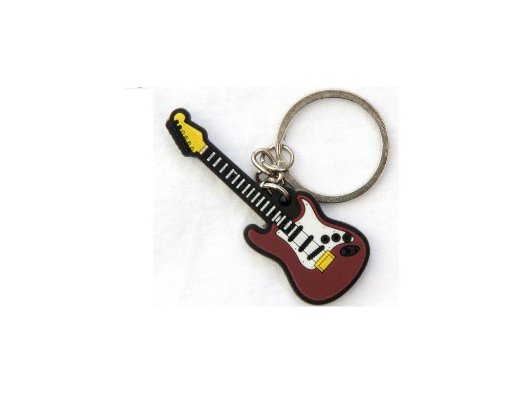 přívěsek na klíče elektrická kytara