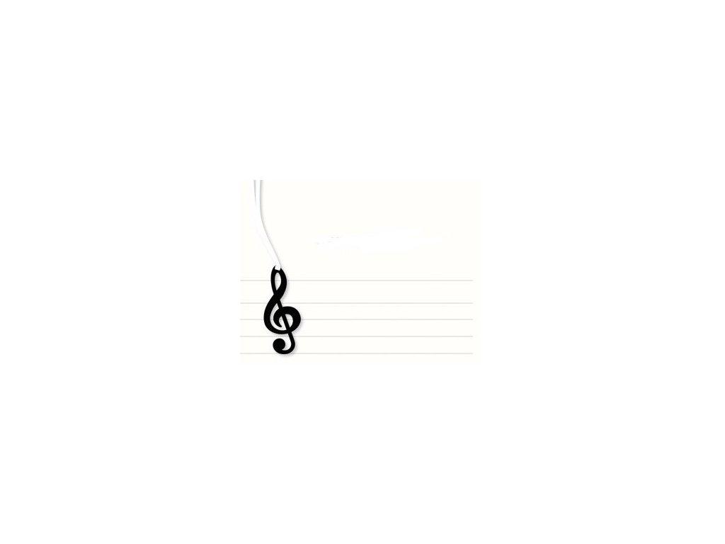 záložka houslový klíč