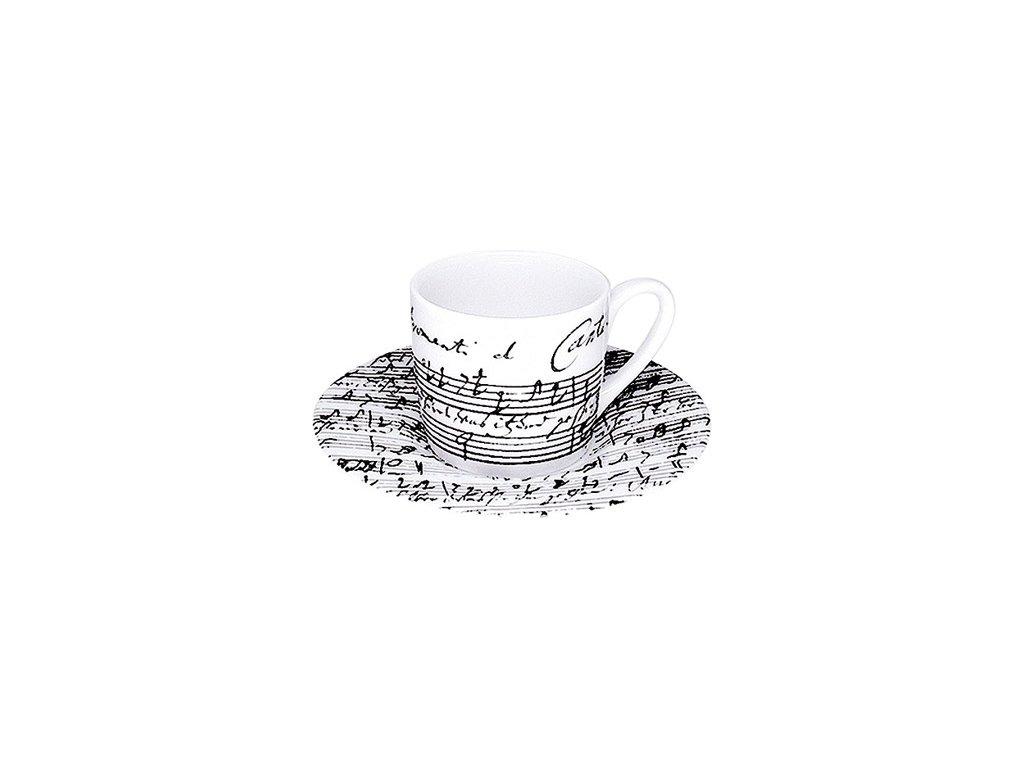 Hrnek Kantáta o kávě s podšálkem malý