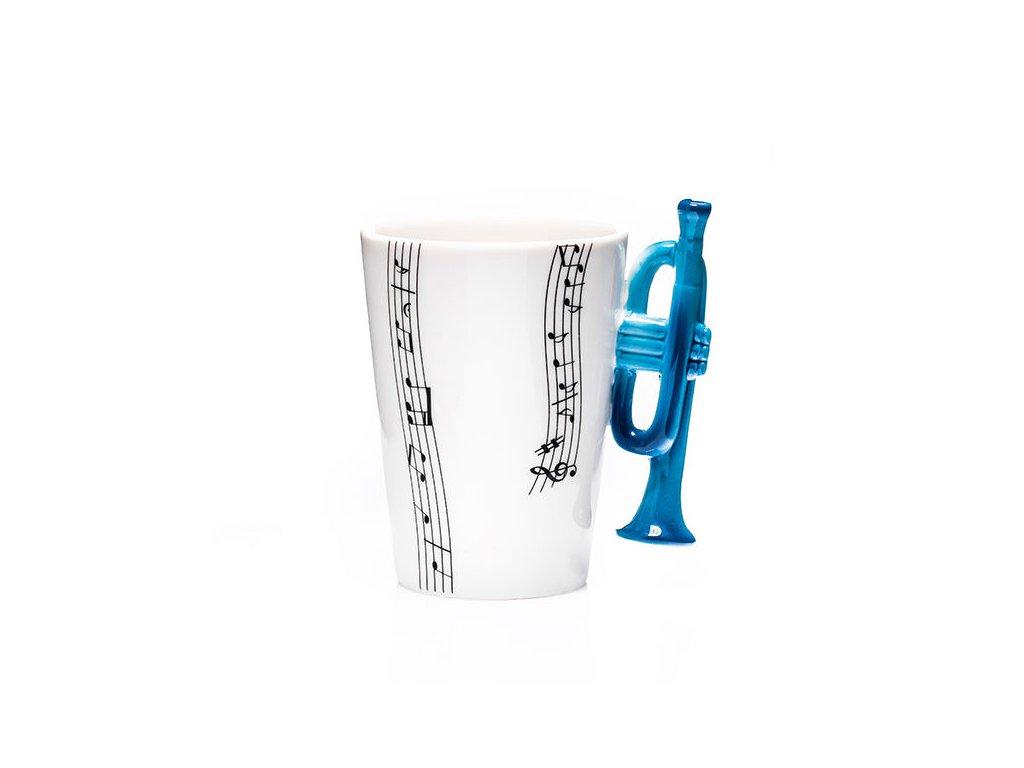 hrneček s modrou trumpetou