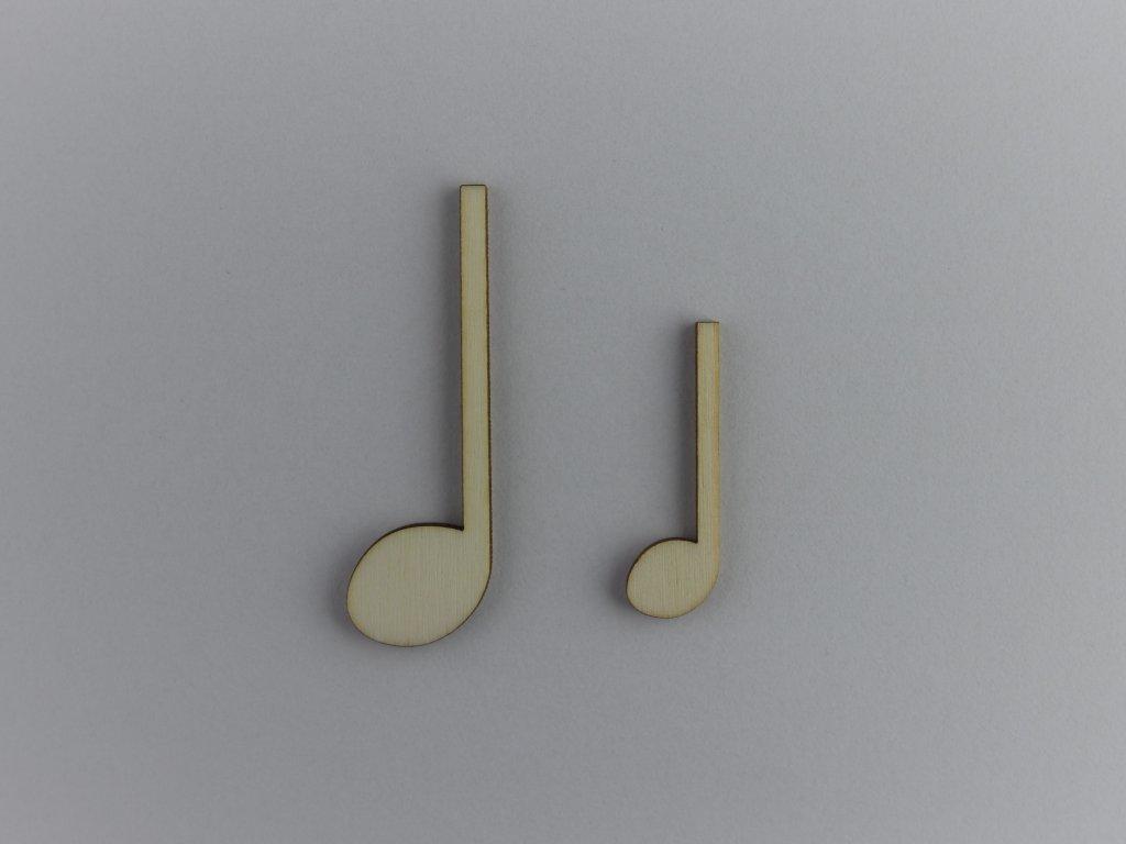 hudební dřevěné výřezy čtvrťové noty
