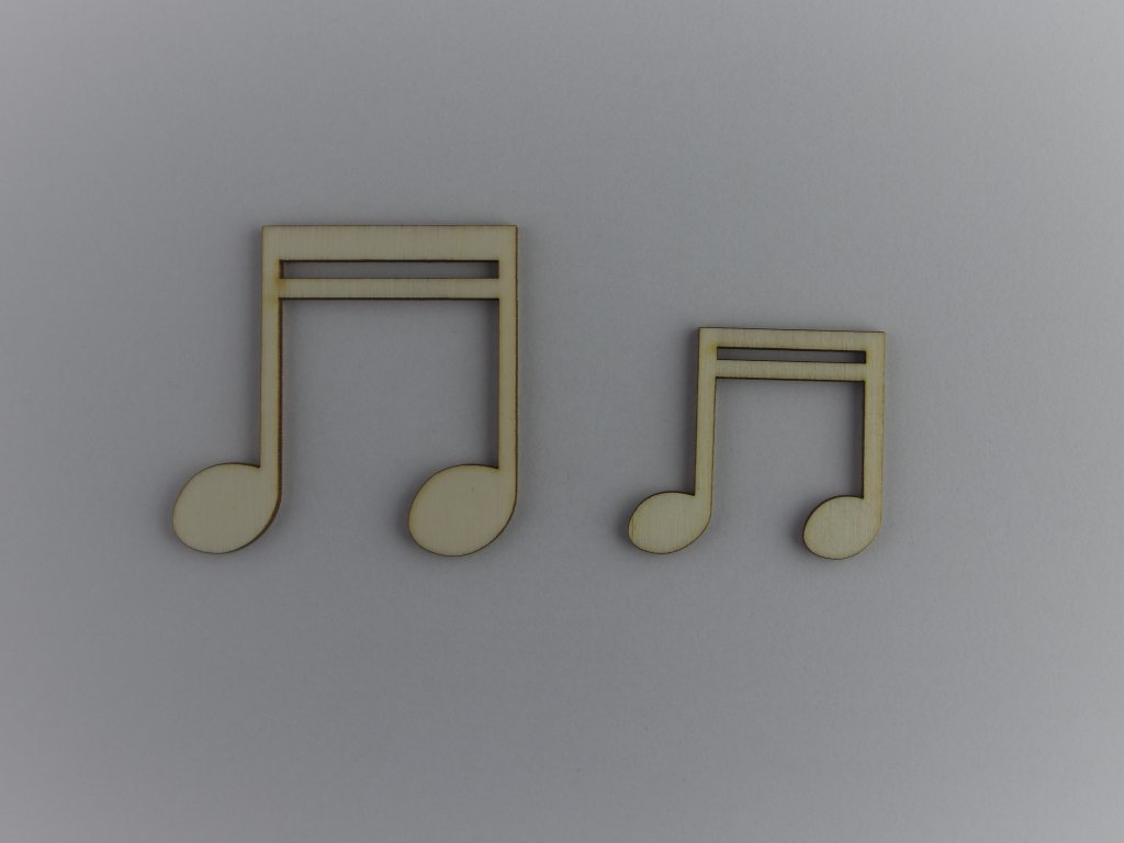 hudební dřevěné výřezy šestnáctinové noty