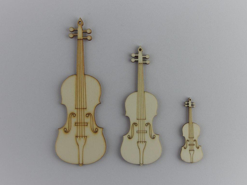hudební dřevěné výřezy housle violy