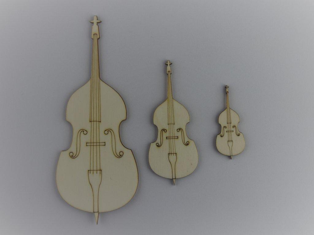 hudební dřevěné výřezy basa