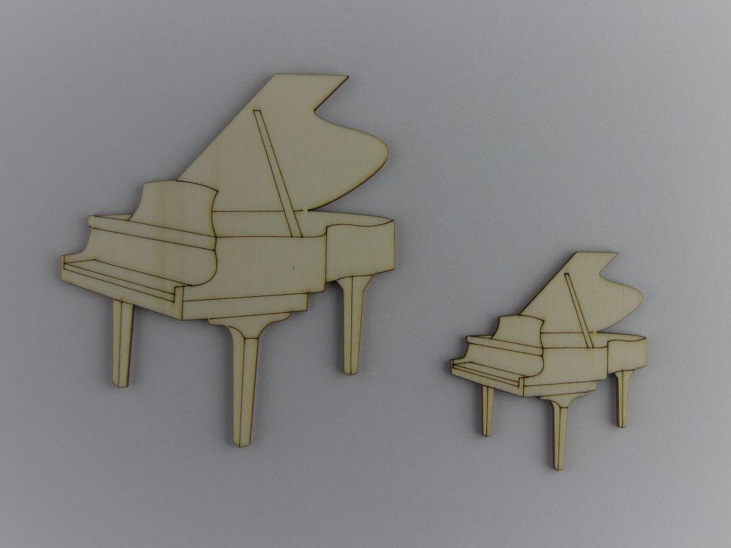 hudební dřevěné výřezy piano klavíry
