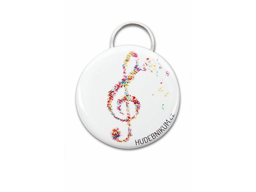 Kapesní otvírák barevný houslový klíč