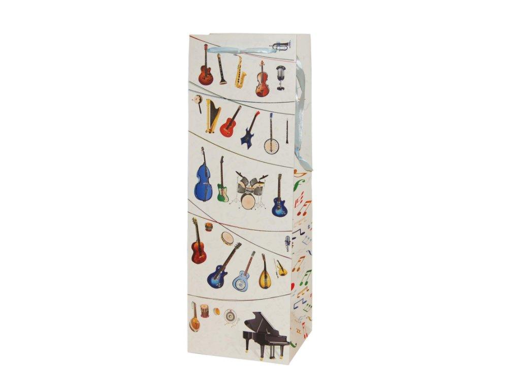 dárková taška na lahev luxusní hudební nástoje