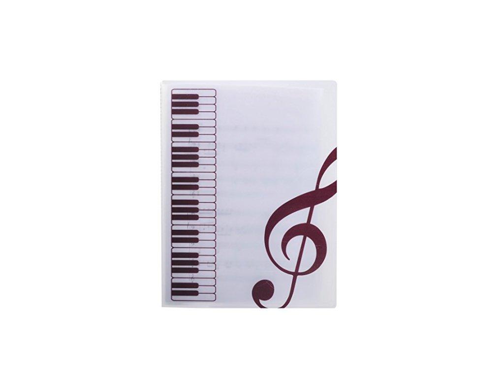 pořadač s klaviaturou a klíči bílé 2