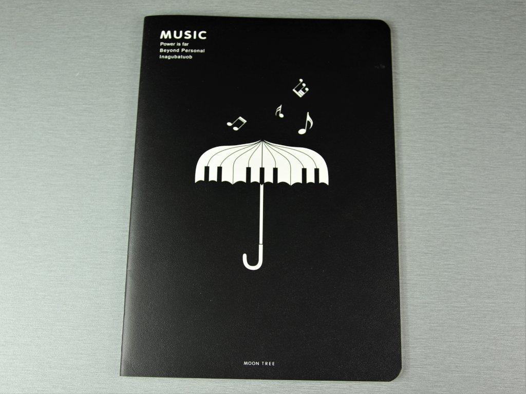 notový sešit deštník s klaviaturou
