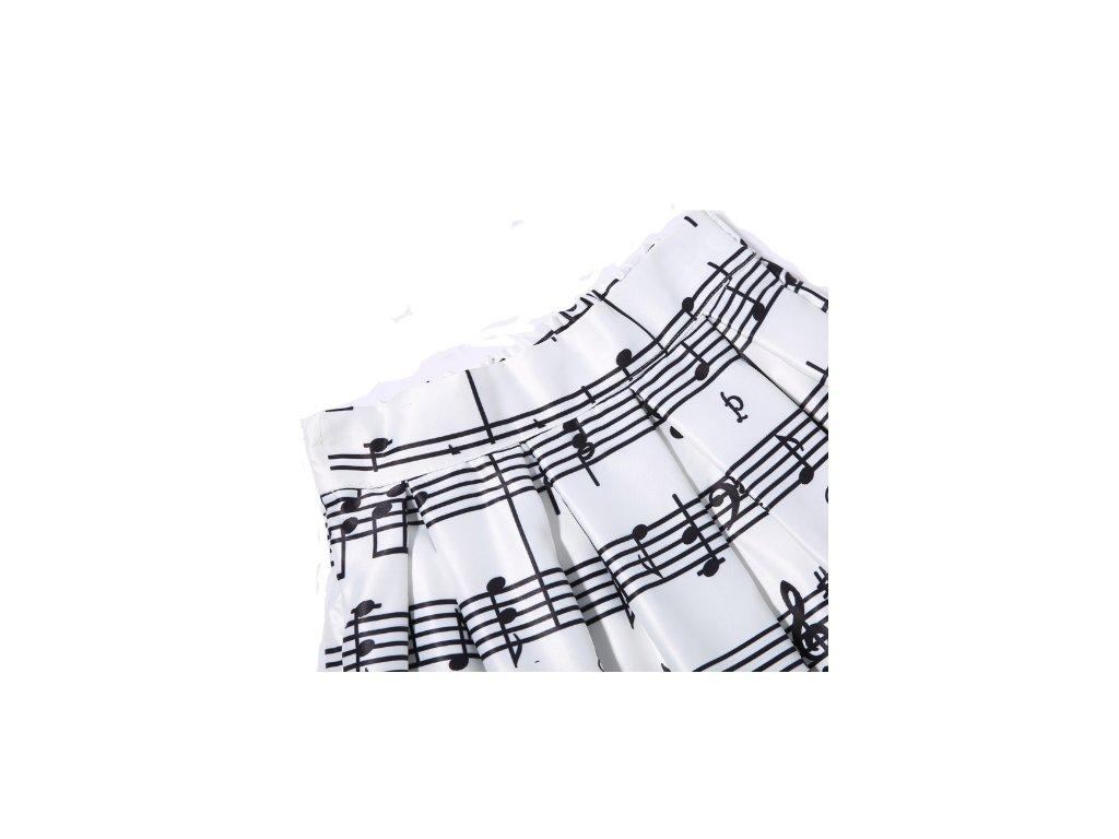 saténová sukně bílá s partiturou · sukně partitura ... 8516e339735