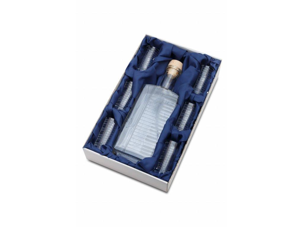 Skleněná láhev 0,5 l + 6 ks sklenic 40 ml KLAVIATURA