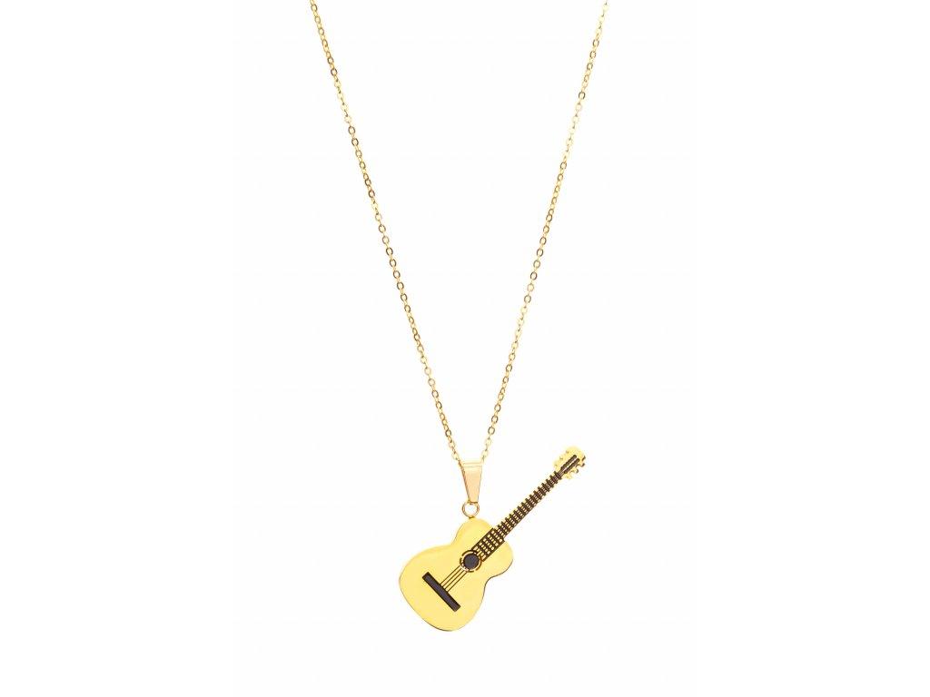 Náhrdelník klasická kytara zlatý