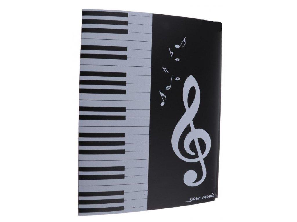 desky na noty klaviatura, houslový klíč, noty