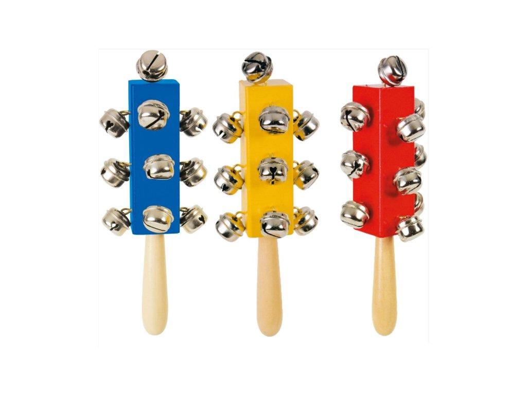 hudební hračka, rolničky na tyčce