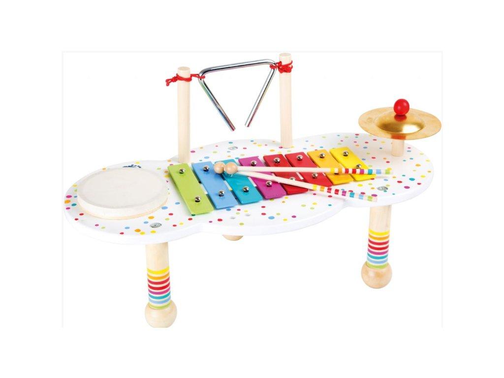 hudební stoleček s puntíky