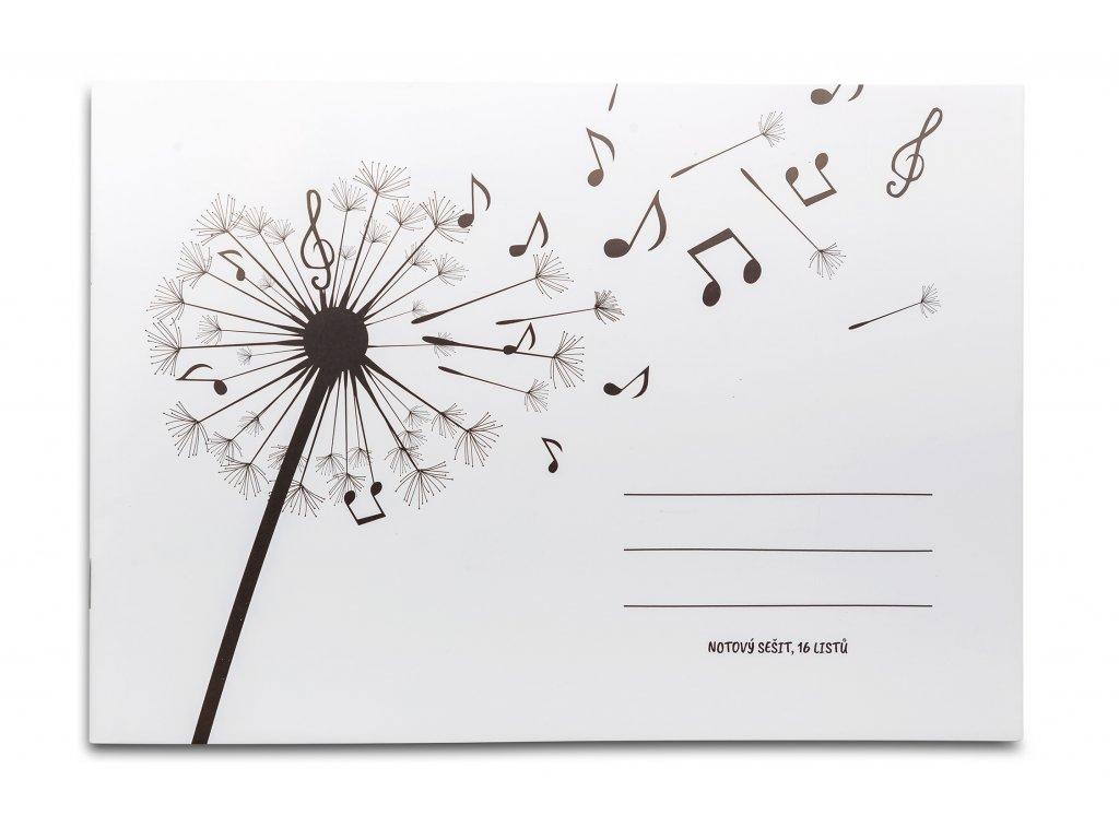 Notový sešit Pampeliška s notami