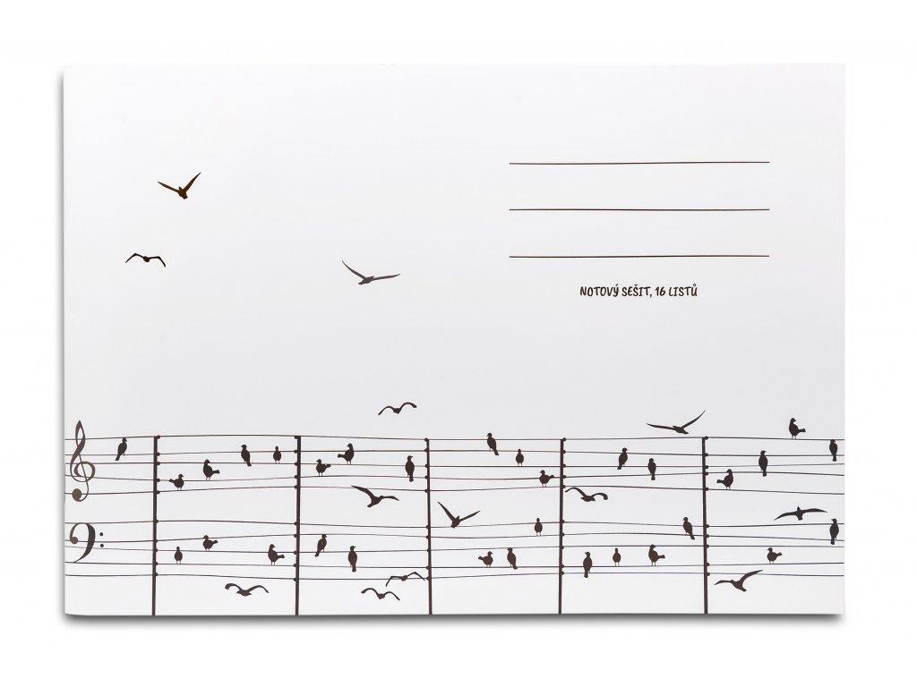 Notový sešit partitura s ptáčky (1)