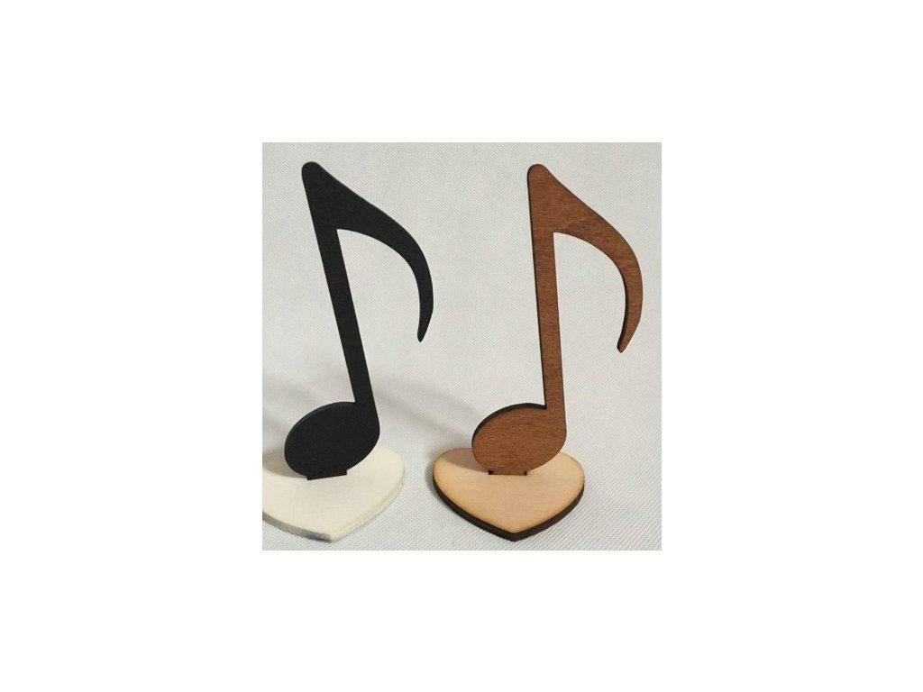 dřevěná dekorace nota osminová