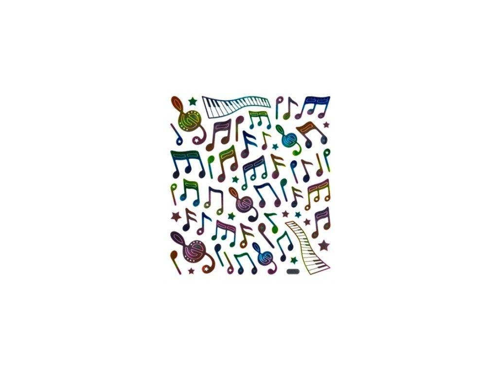 samolepky music duhové
