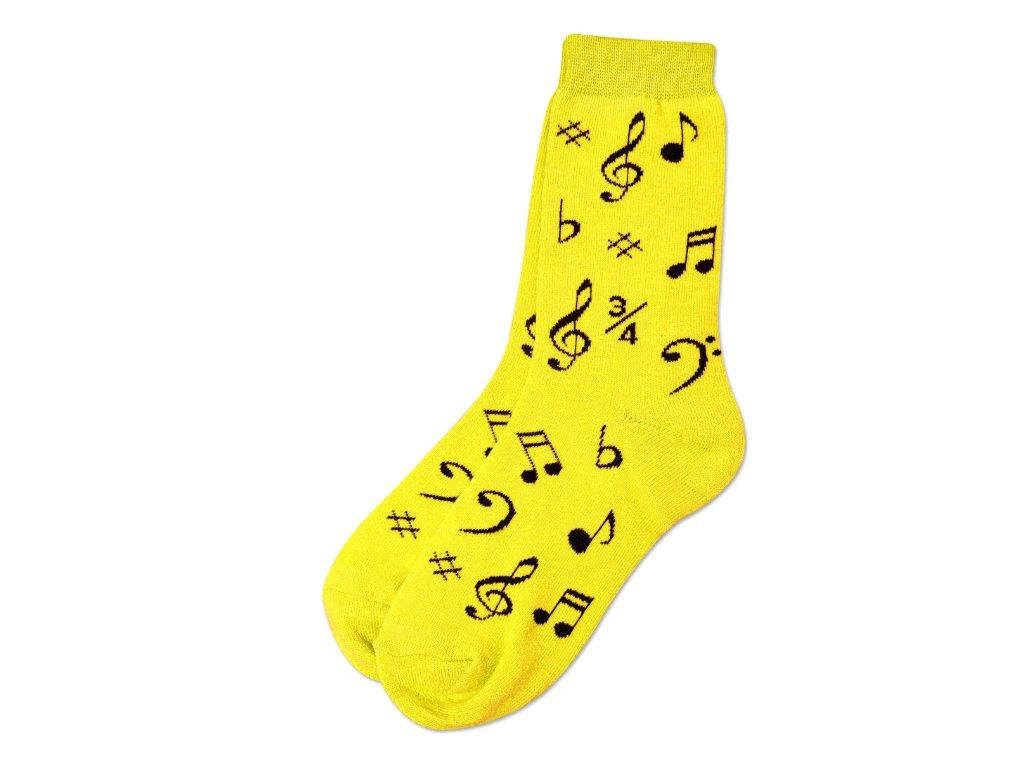 Ponožky HUDBA dámské žluté