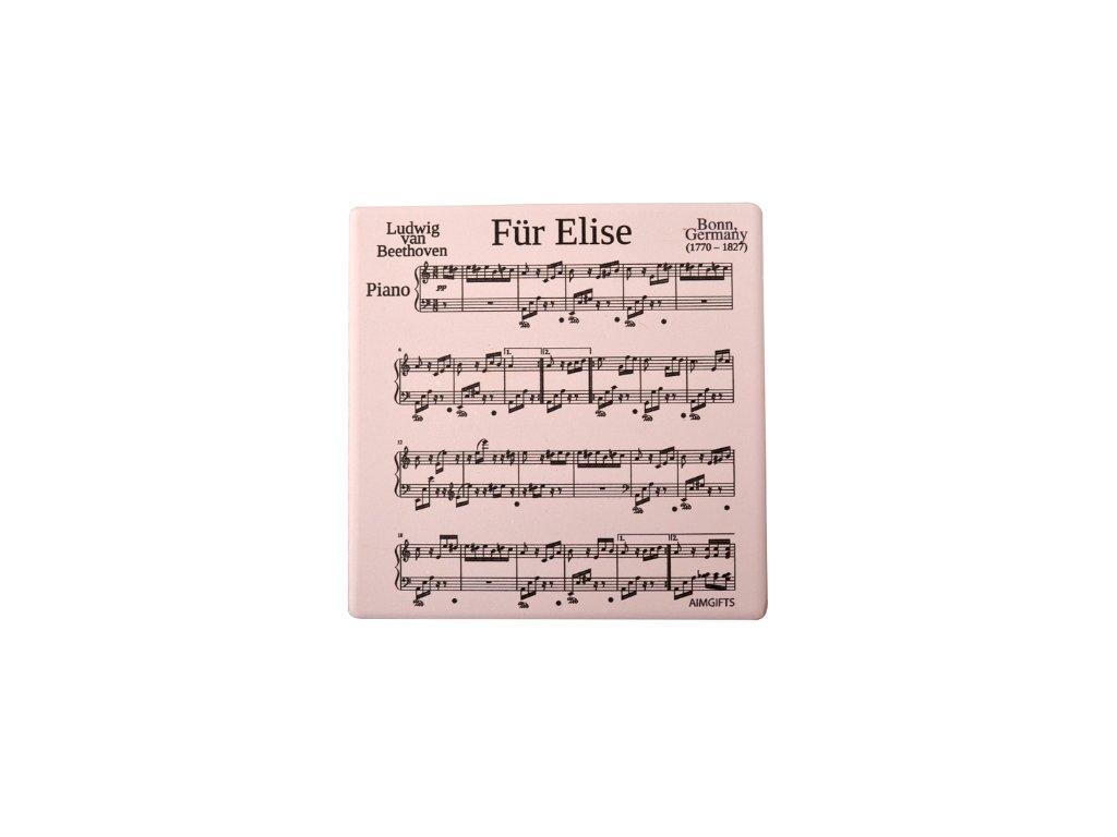 Podložka pod hrnek L. v Beethoven, pro Elišku