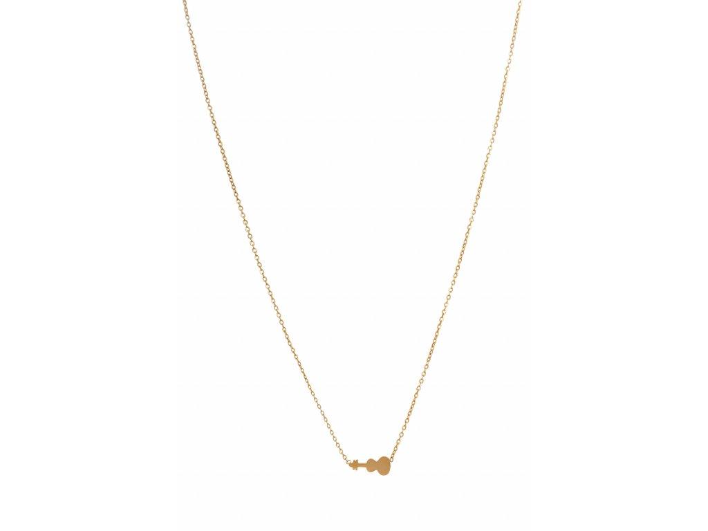 Bižuterní sada náhrdelník HOUSLE, zlatá