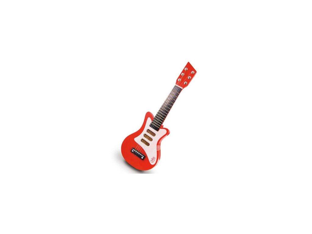 dětská elektrická kytara červená