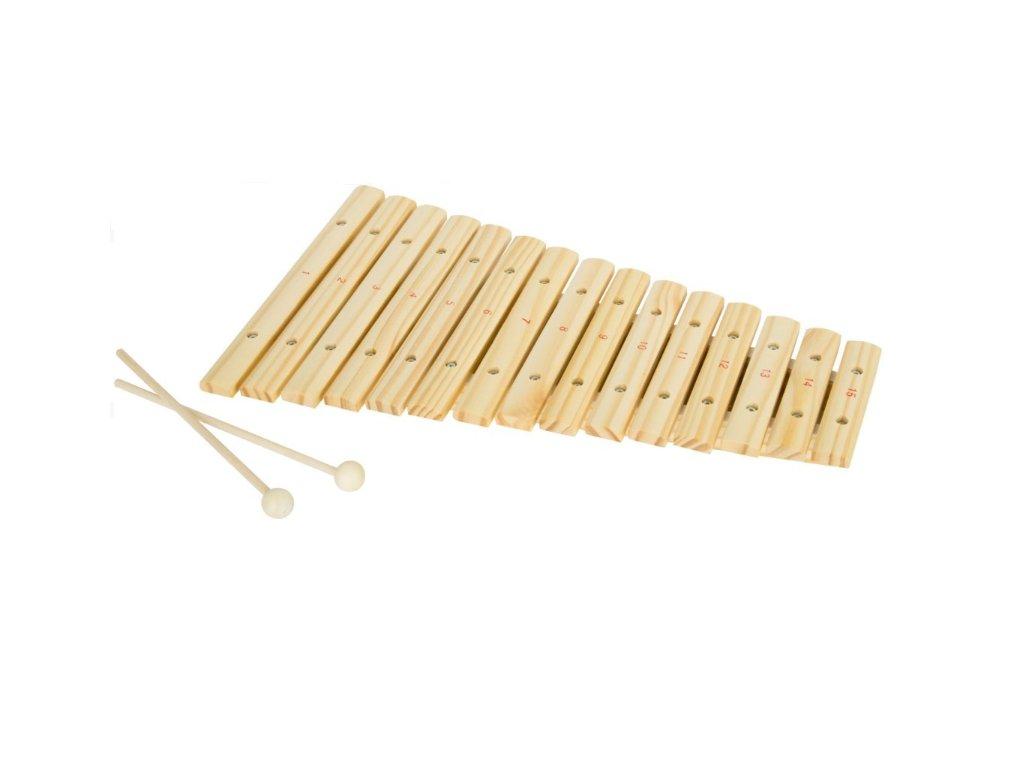 xylofon 15 tónů, přírodní dřevo