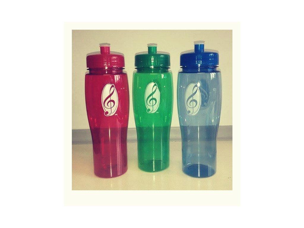 Plastová sportovní lahev s pítkem modrá