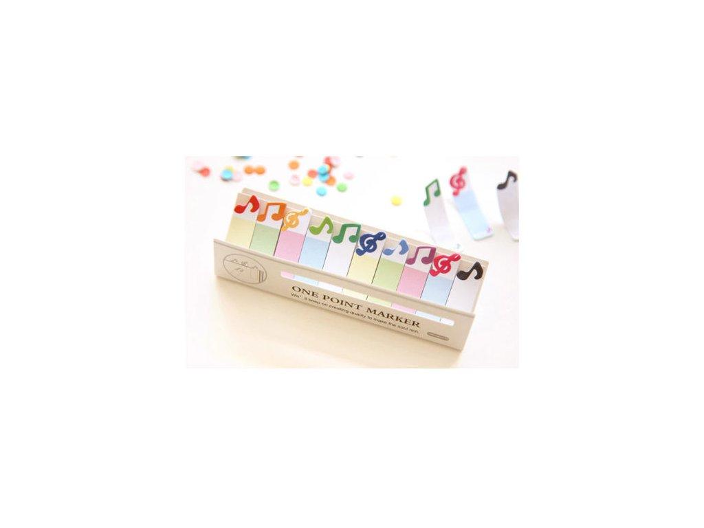 lepítka, lepící záložky noty