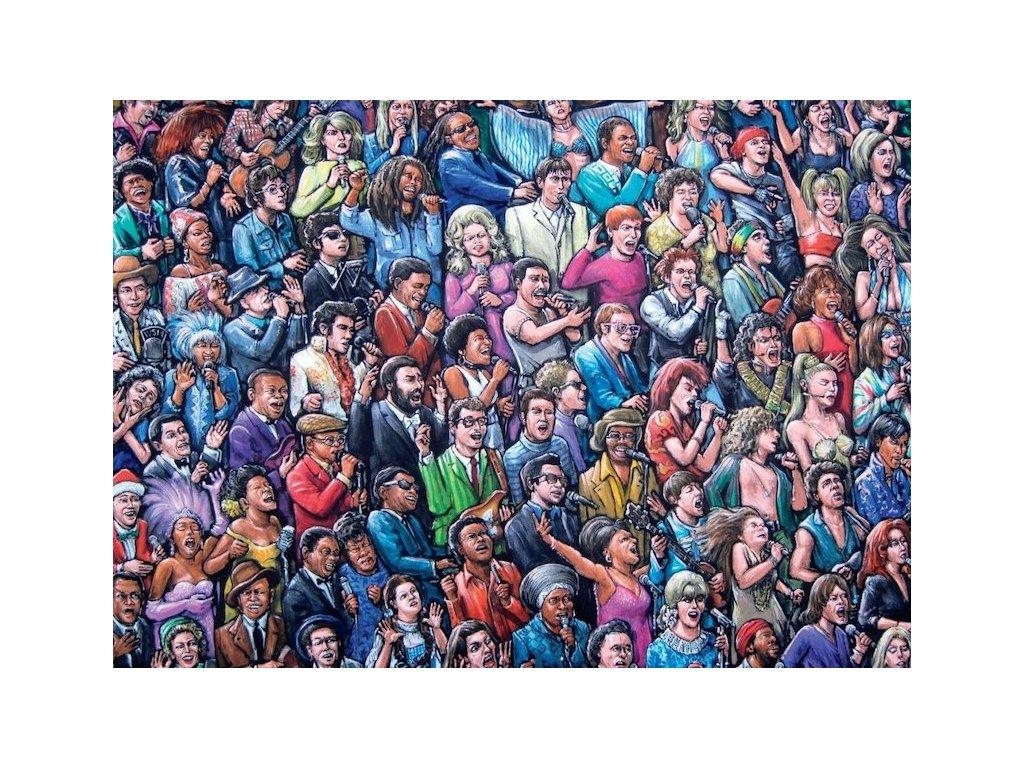 Puzzle zpívající zpěváci 1000 dílků (1)