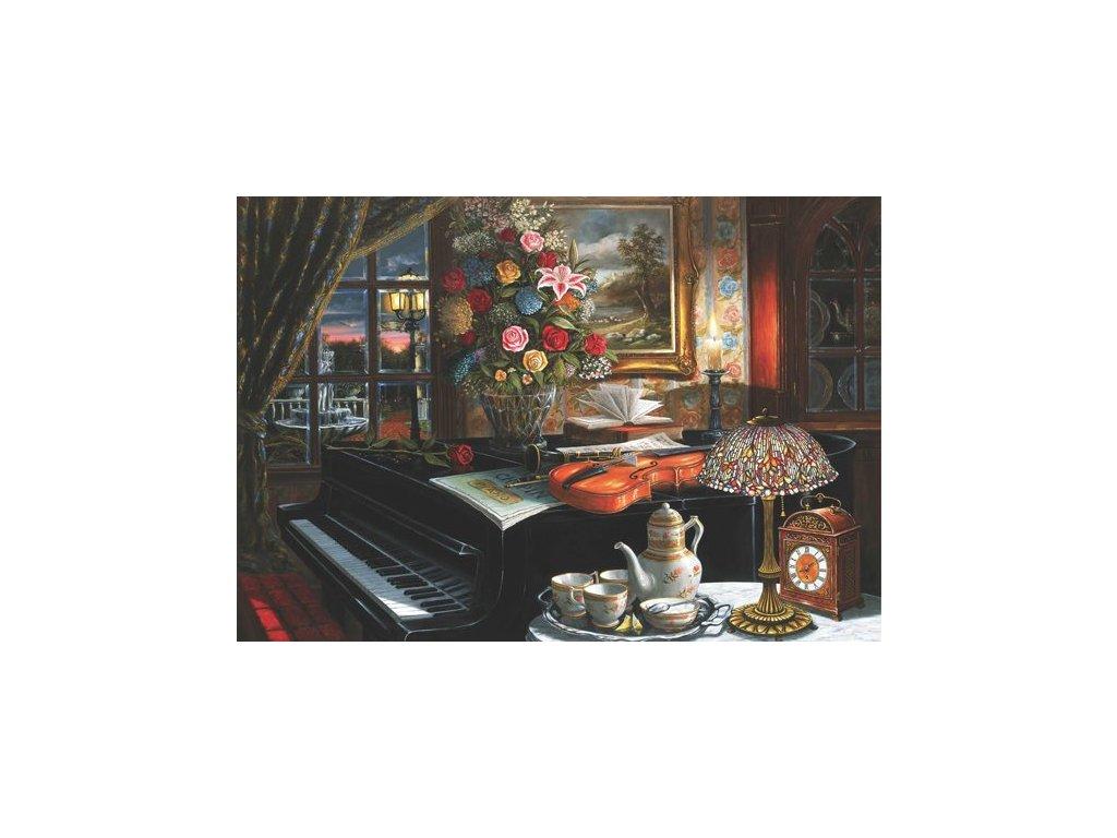 puzzle zátiší piáno
