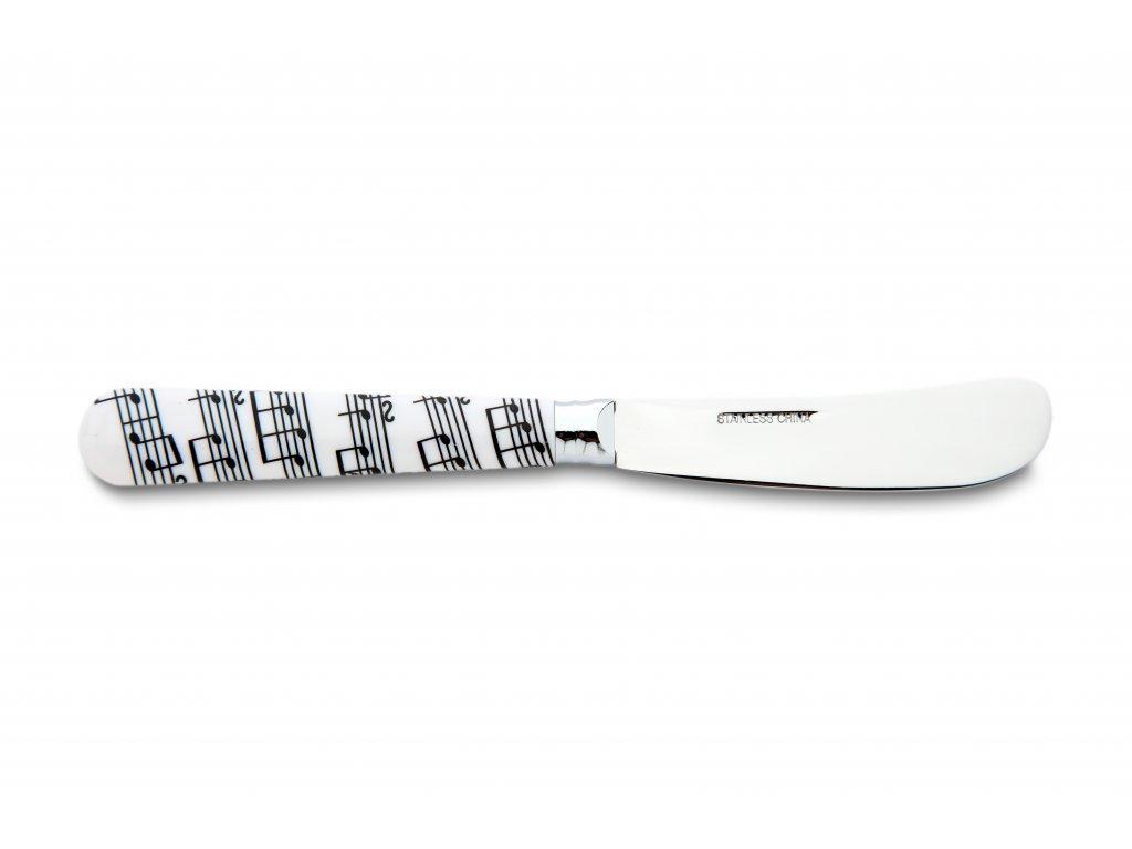 Mazací nůž s partiturou