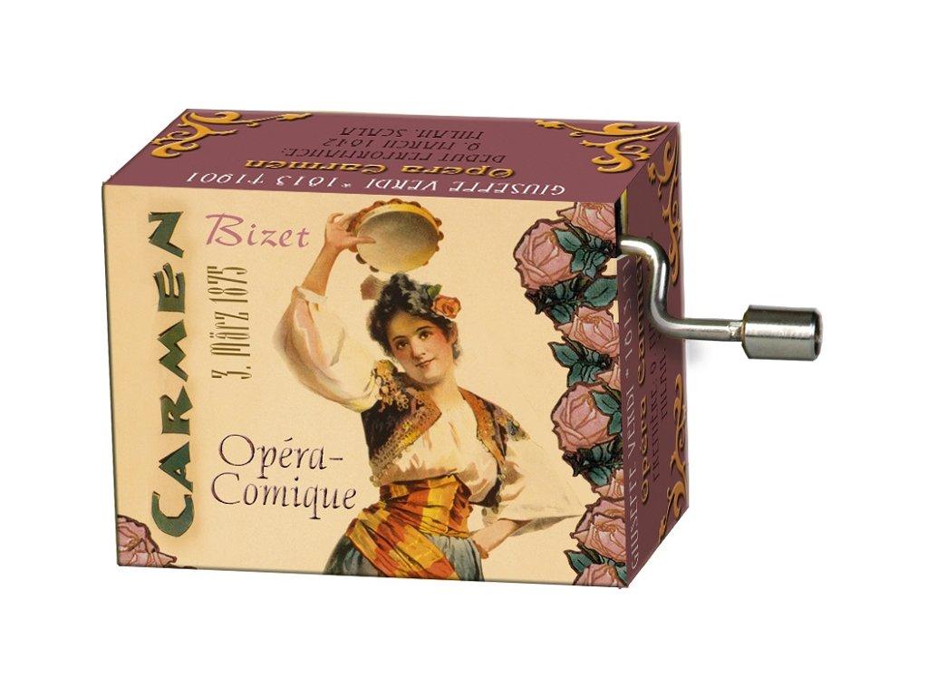 hrací skříňka opera Carmen