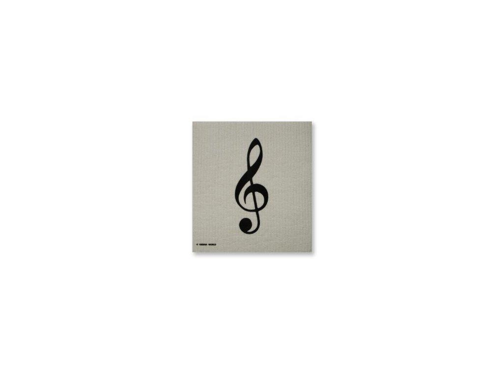 hudební houbová utěrka houslový klíč