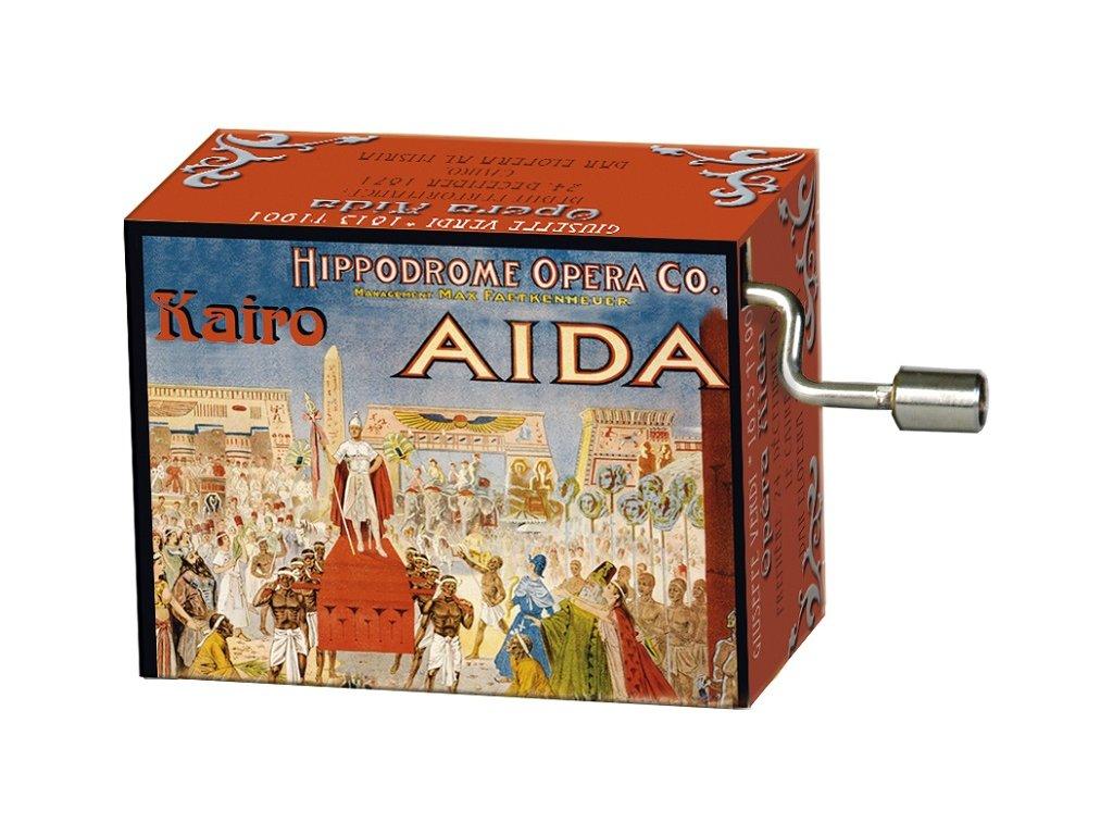 hrací skříňka opera Aida