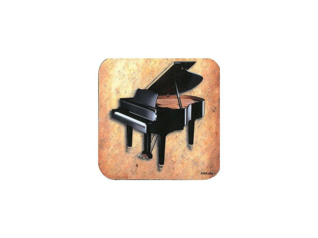 podložka pod hrnek klavir piano hudebnikovi pianista