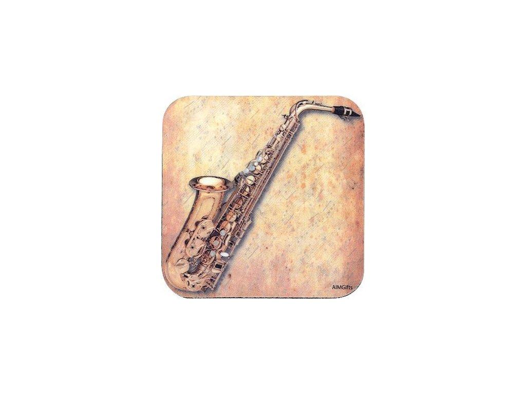 podtácek saxofon