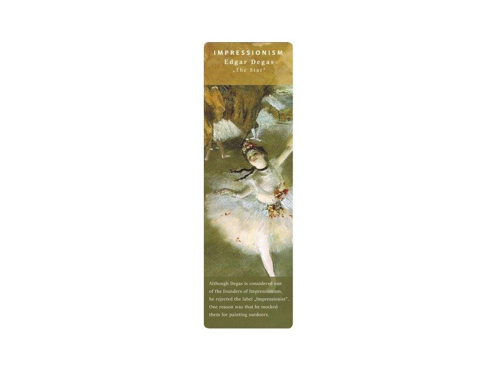 Záložka do knihy Hvězda Degas