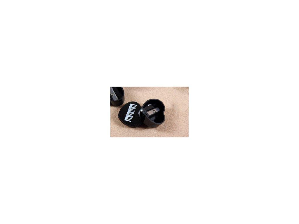 Ořezávátko černé s klaviaturou - srdce