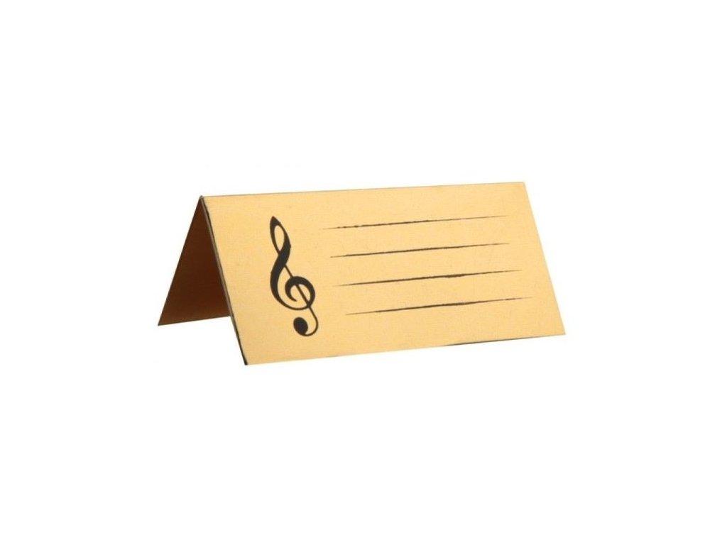Jmenovky na stůl, houslový klíč, zlaté