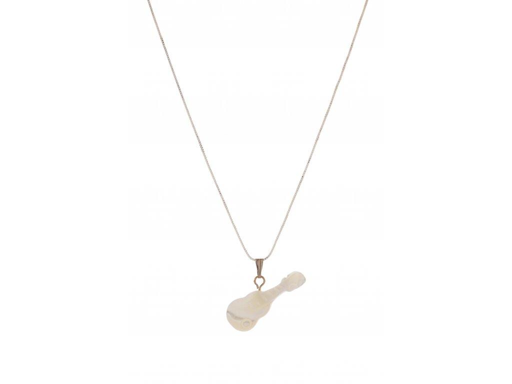 Náhrdelník KYTARA, perleťový (2)