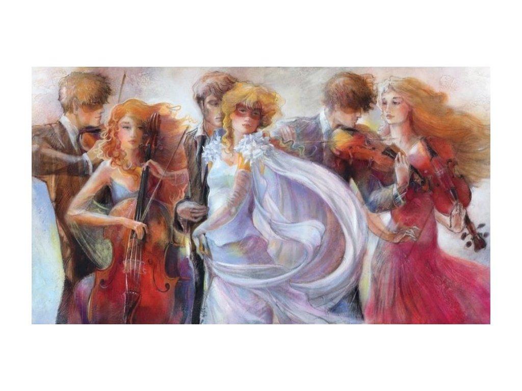 panoramatické puzzle svatební píseň