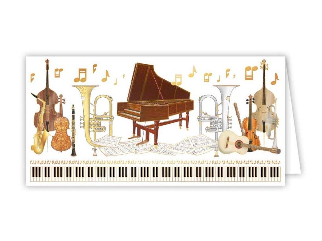 Embosované přání klasická hudba