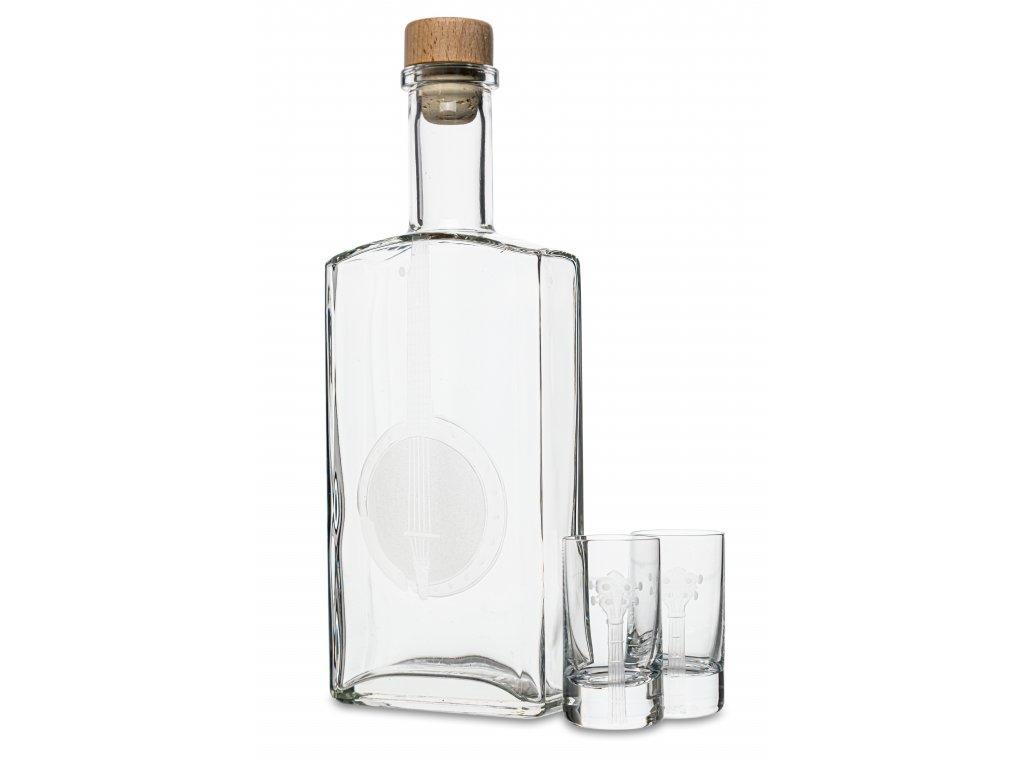 Skleněná láhev 0,5 l + 6 ks sklenic 35 ml BANJO